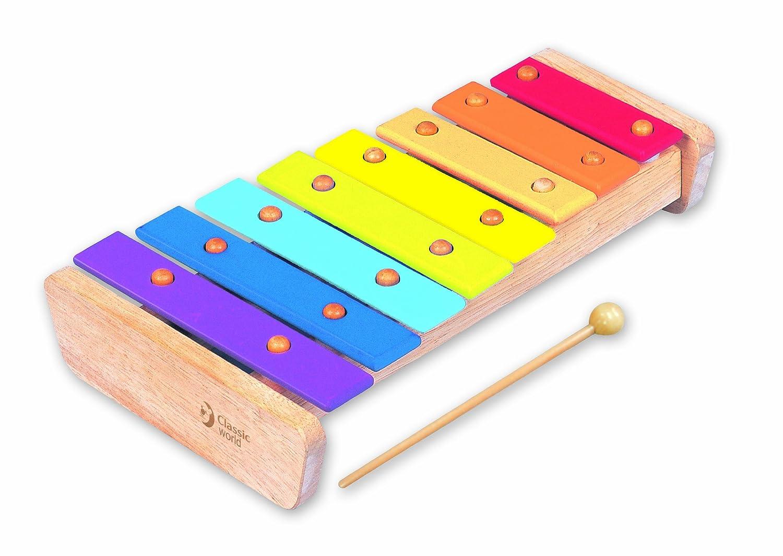 德国classic world 可来赛 小木琴 宝宝手敲琴 八音琴图片