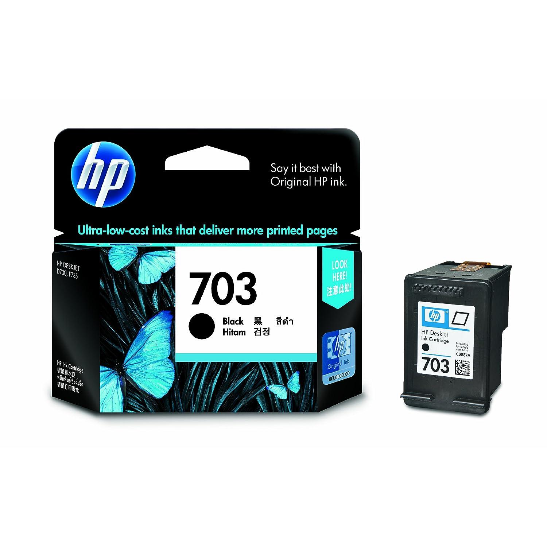 惠普(HP)CD887AA 703号黑色墨盒(适用Deskjet F735 K109a K209g Photosmart K510a)