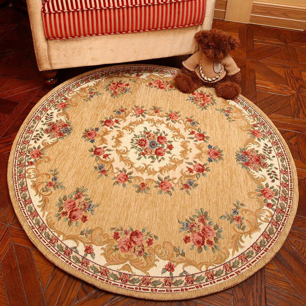 易普美家 电脑椅垫圆形地毯 地毯 客厅 欧式地毯 卧室