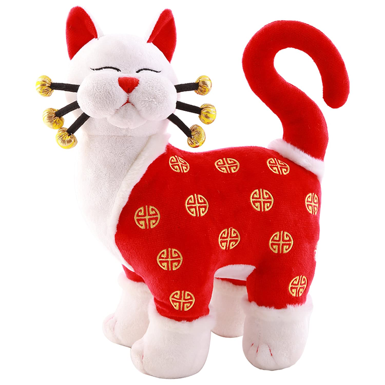 高档优柔猫咪新郎新娘猫结婚猫毛绒玩具公仔