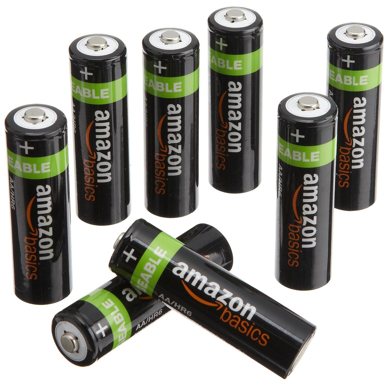 AmazonBasics 亚马逊倍思 AA 型(5号)镍氢预充电可充电电池(8 节,2000 毫安) ¥80