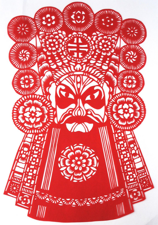 韵美 中国剪纸-京剧脸谱-杨志-特色工艺品-家居装饰画