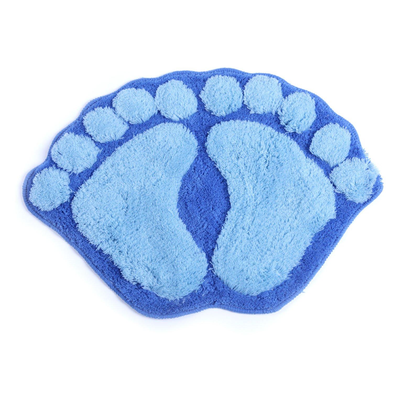 欣居吸水地垫 门垫 中号浴室防滑垫擦脚垫子卡通脚丫布艺地毯门口垫图片