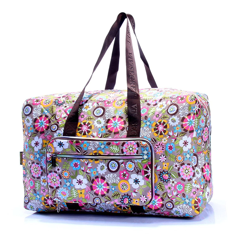 vivisecret 旅行包 手提折叠旅行包 运动斜挎包新款时尚大包 (零碎花)