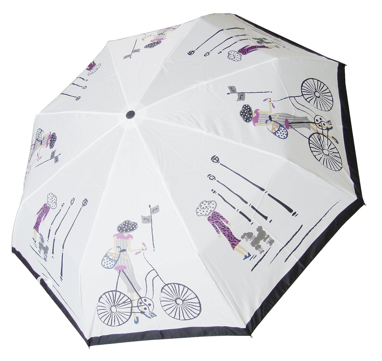 kobold三折手动白色自行车女郎晴雨伞500-r