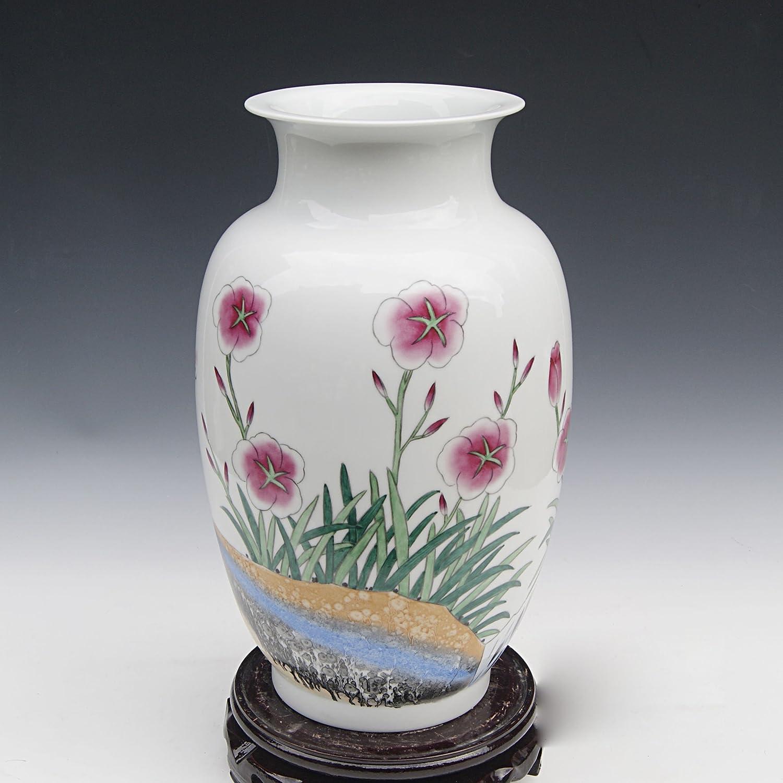 手绘陶瓷花瓶图片宽图