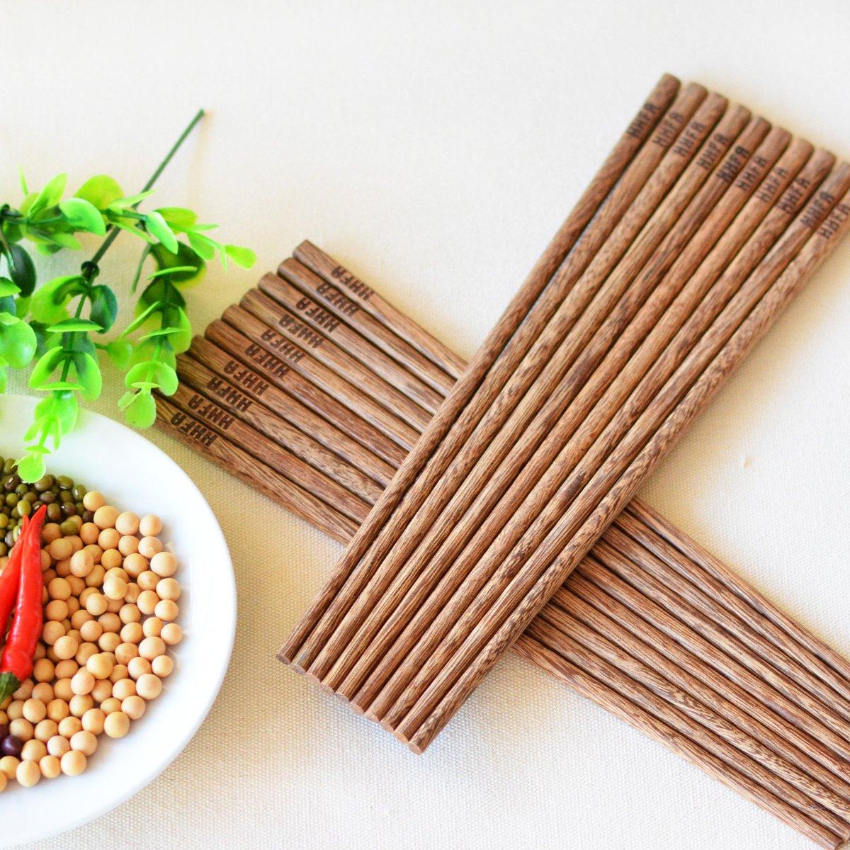 原木实木红木 无漆无油无蜡 环保 纯手工制作 木制筷子 共10双