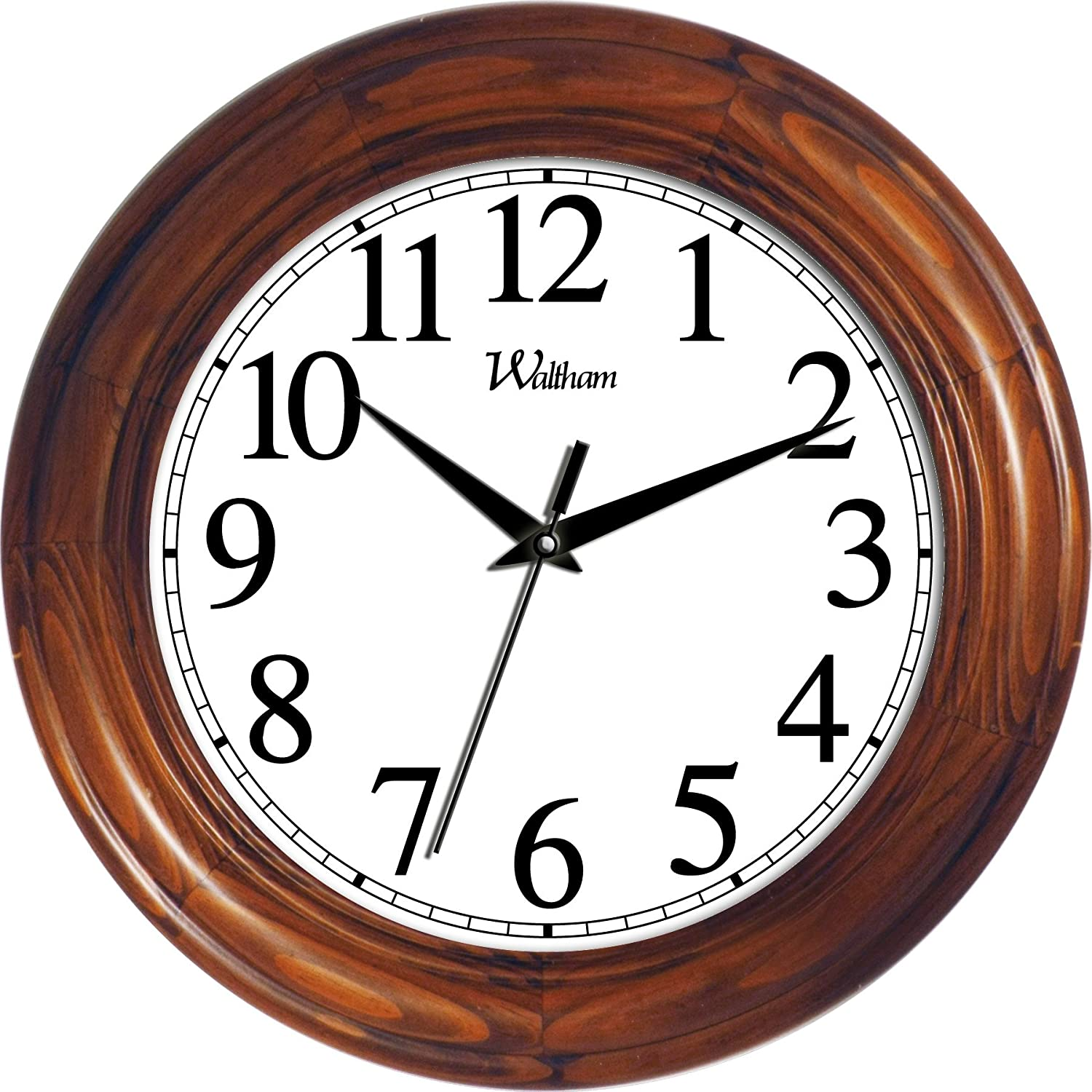 ashton sutton round quartz analog wall clock, 12