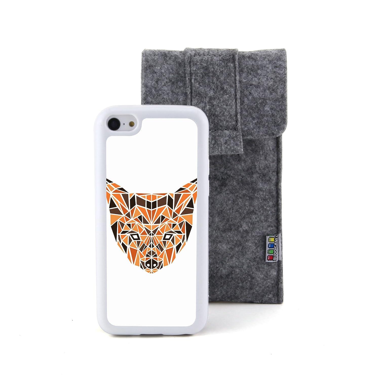狗3d多边形动物头像浮雕设计风格 塑料+tpu手机壳 手机套 适用于 苹果