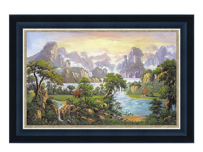 大堂 办公室 酒店 挂画 背景墙壁画 聚宝盆 名师手绘油画大型画单幅