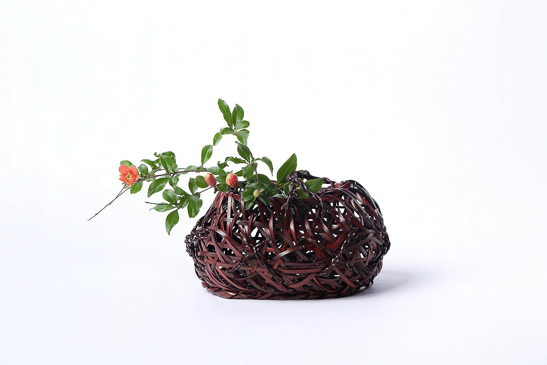 oricrafts 本意 刘氏竹编 创意手工竹编山口日式花篮花器