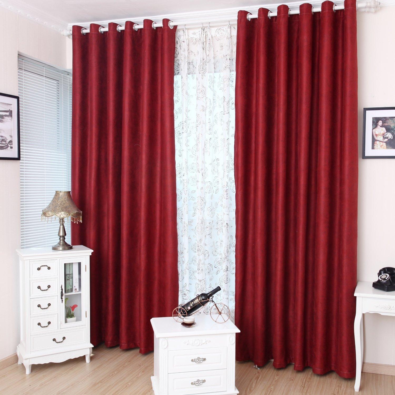 理想家 欧式古典风格 客厅卧室成品遮光窗帘 qf-57单片装 挂钩款式宽1