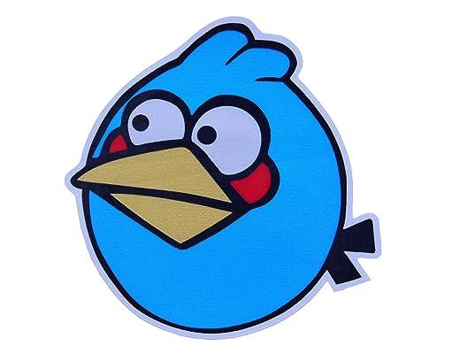 汽车油箱贴(愤怒的小鸟~蓝色小鸟)3m反光贴/可爱车贴