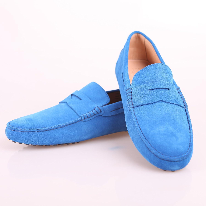 男士宝蓝色豆豆鞋