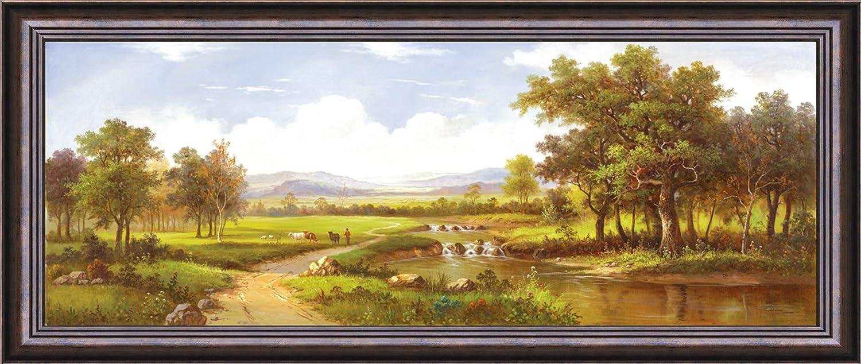 风景手绘油画现代装饰画客厅卧室