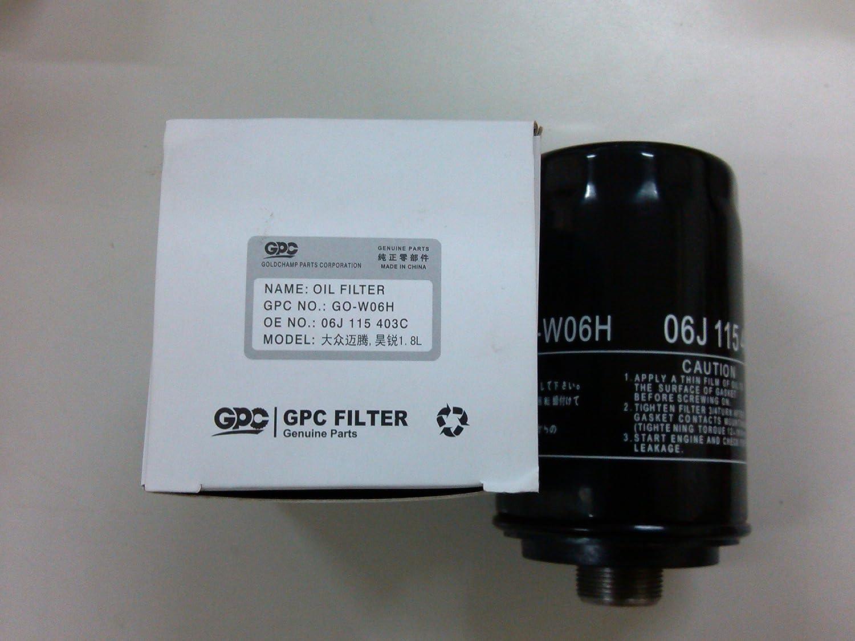 gpc 品牌w06h大众迈腾,昊锐1.8l机滤/机油格/机油滤清器/滤清器