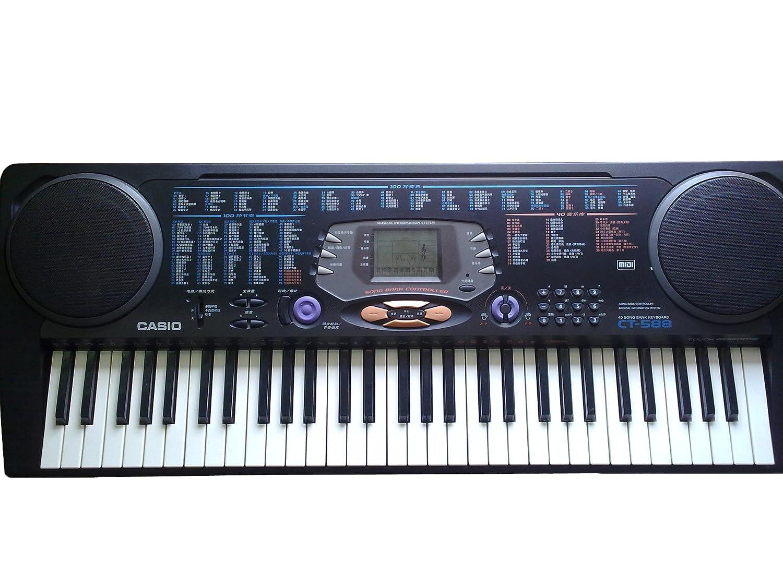casio 卡西欧 ct-588电子琴 黑色 考级力度键盘