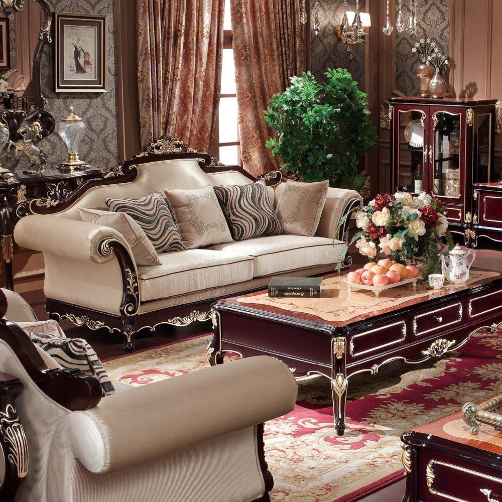 jiawen 嘉文 实木家具 橡木客厅家具 法式欧美风 s1117-2 组合沙发
