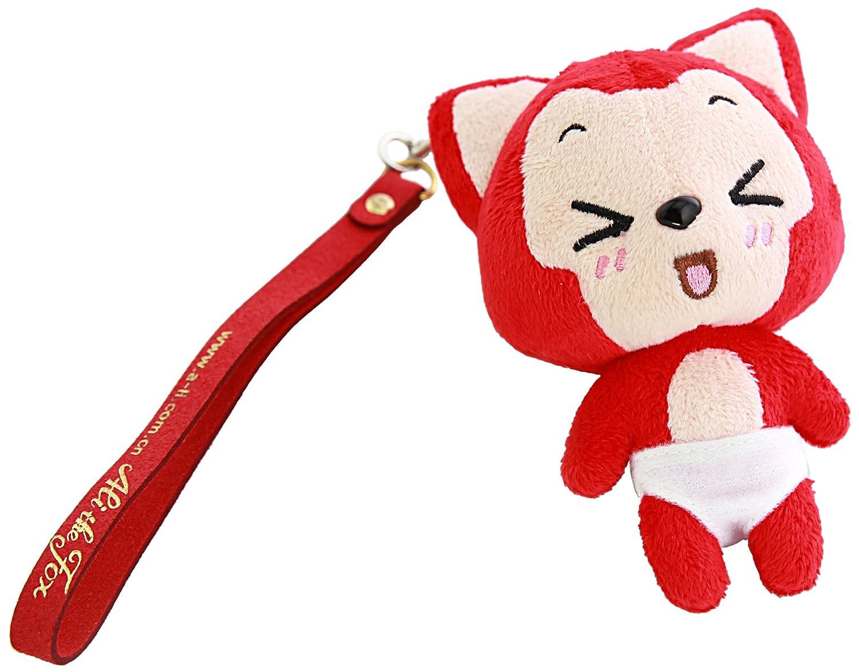 阿狸 表情毛绒挂件-嘻 毛绒玩具 吉祥物公仔 汽车钥匙