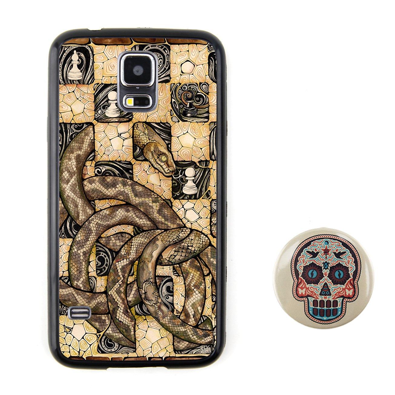 棋盘上的蛇 多彩卡通3d动物图案浮雕设计风格 塑料 tpu手机壳 手机套