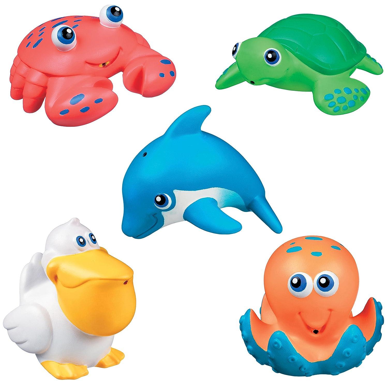munchkin海洋小动物洗澡喷水玩具 5份