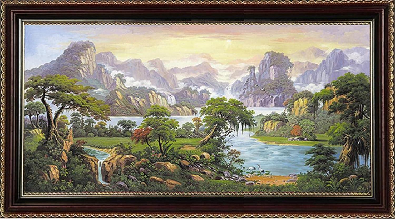 风景手绘油画现代装饰画客厅卧室 大堂 办公室 酒店 挂画 背景墙壁画