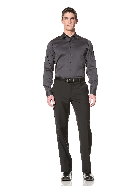John Varvatos Collection Men's Classic Fit Pant 黑色 52 欧盟: 服饰箱包-海外购 美亚直邮