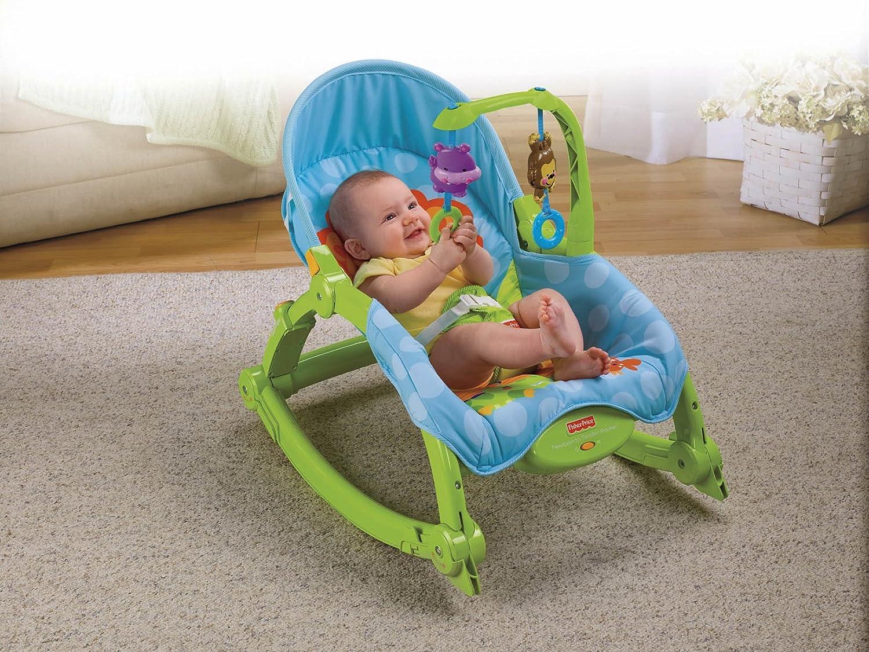 费雪(Fisher Price) W2811可爱动物多功能轻便摇椅 锻炼宝宝的手眼协调能力