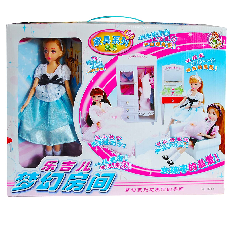 乐吉儿梦幻房间芭比娃娃 家具系列 梦幻房间 礼盒套装