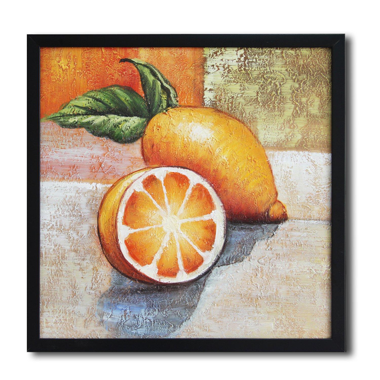 纯手绘油画系列 客厅卧室装饰画 工艺画 家装壁画《柠檬》p60047
