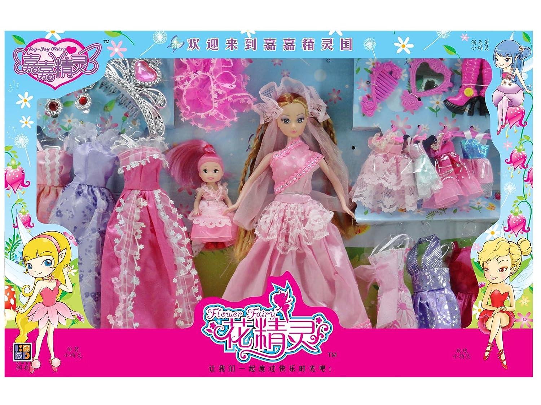 花精灵 娃娃 芭比娃娃 礼品娃娃玩具 礼盒装s2075 (粉色)