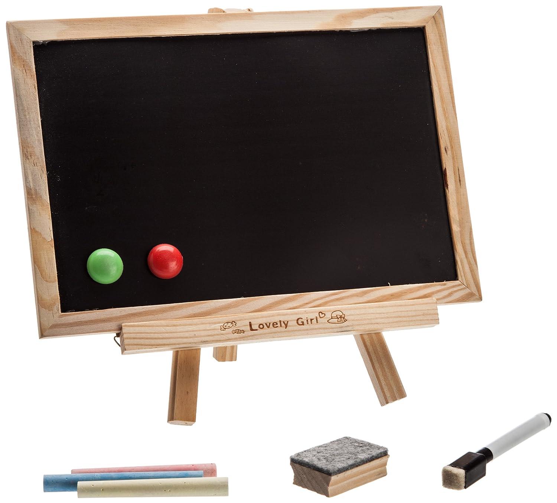 青苇木质双面小黑板 留言板 可挂式