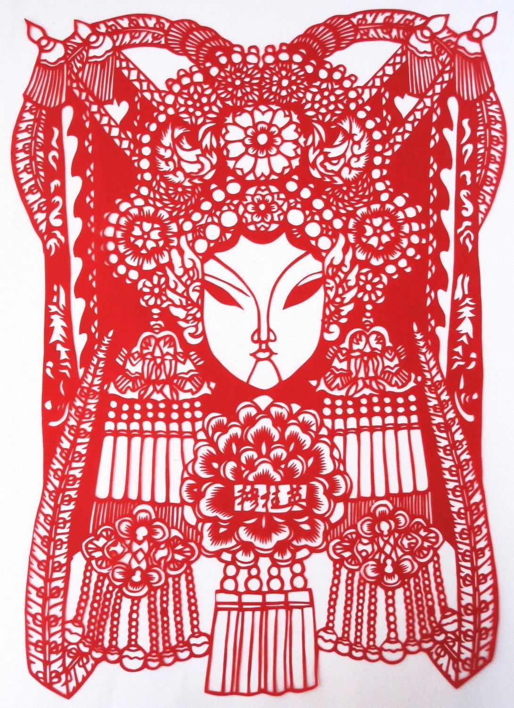 韵美 京剧脸谱剪纸-穆桂英-中国民间艺术装饰画-特色小礼品