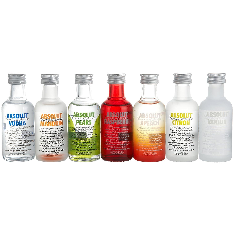 国内优惠:酒柜收藏夹,Absolut Vodka绝对伏特加7瓶迷你装40度350ml ¥185-20