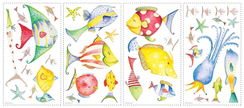 海底生物简笔画有颜色