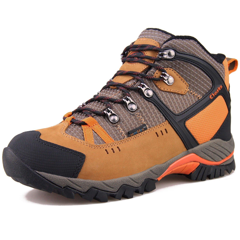 CLORTS 洛弛 男女登山鞋 防水透气徒步鞋 中帮头层牛皮户外鞋 HKM-803
