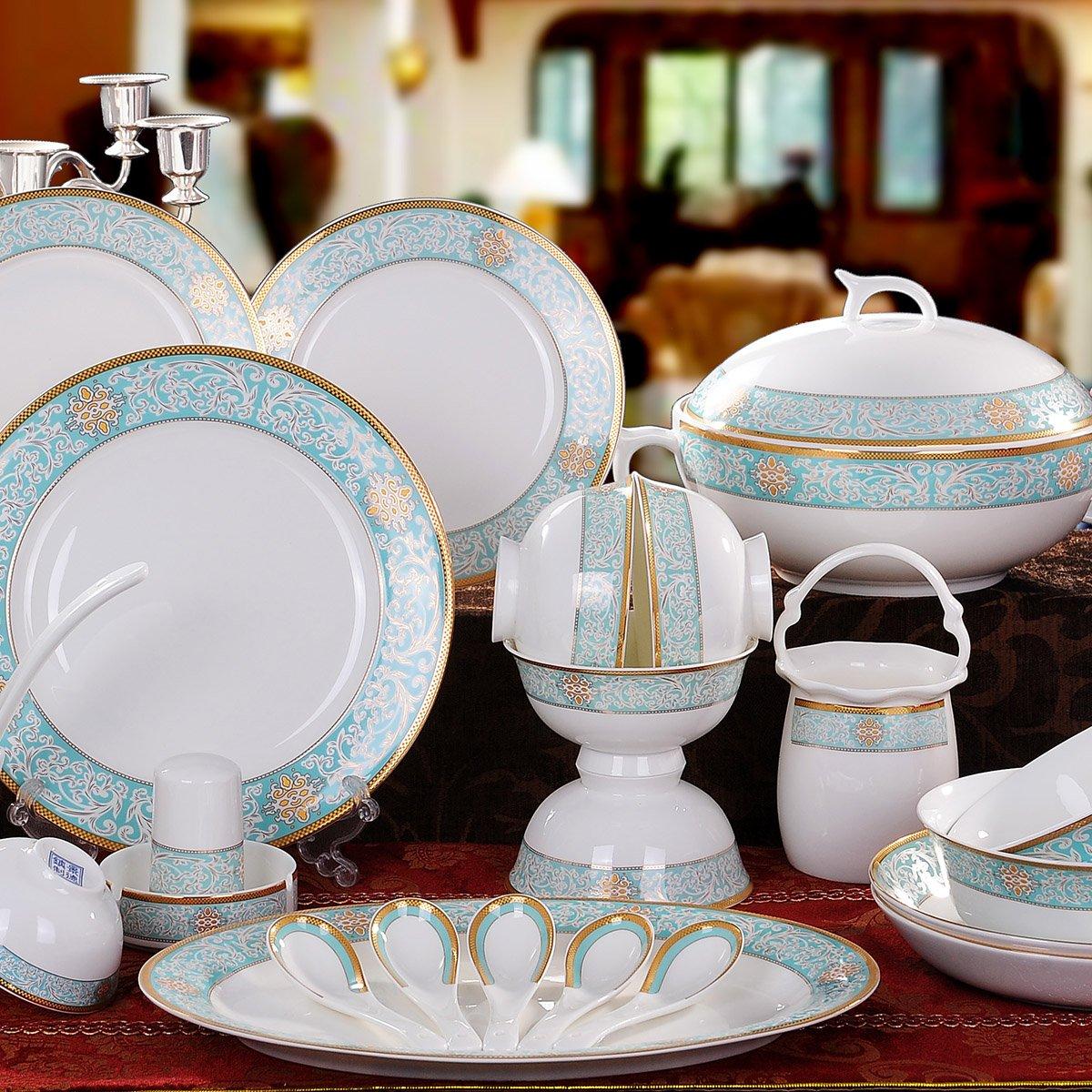景德镇陶瓷瓷器碗碟餐具套装