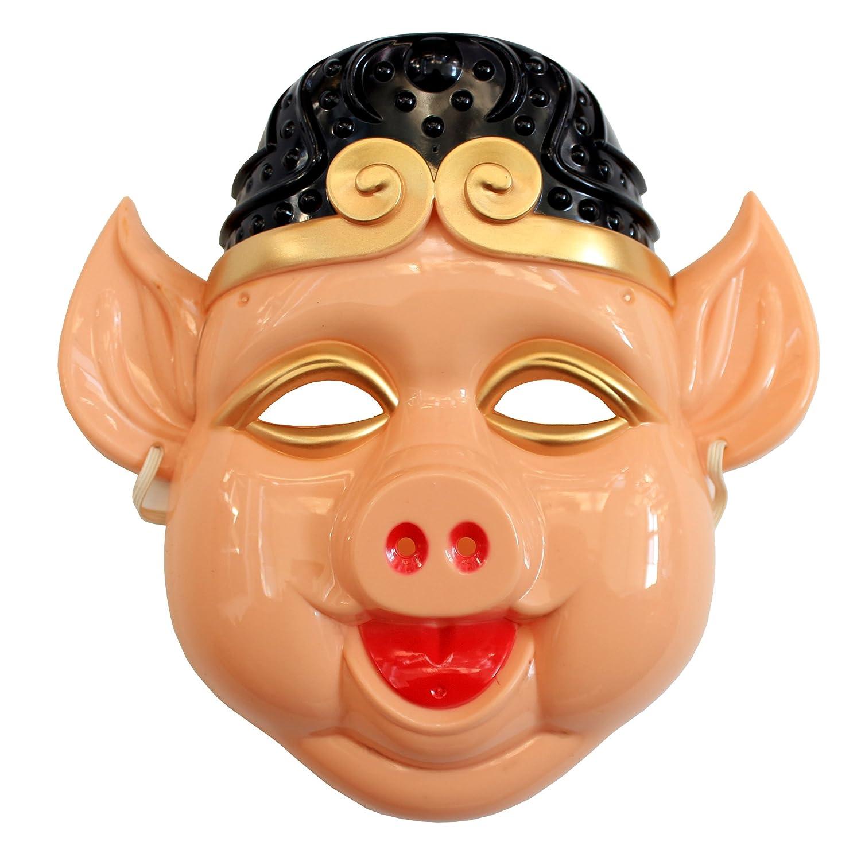 化妆舞会面具西游记面具孙悟空面具猪八戒面具沙和尚面具唐僧面具 (猪