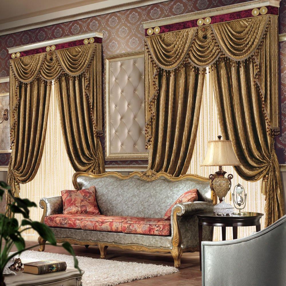 绒布拼色窗帘