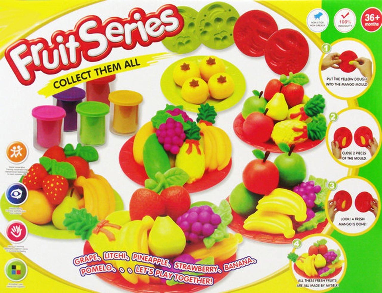 益奇思 水果缤纷彩泥 3d彩泥 过家家玩具 益智玩具 彩泥套装 橡皮泥