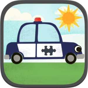 趣味卡通飞机,警车,消防车和汽车高清拼图是一个有趣的动画益智游戏