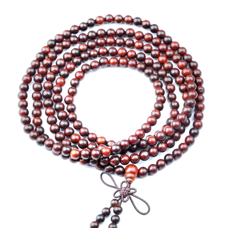红木念珠-小叶紫檀佛珠-手链-挂件(6mm216颗限量版)