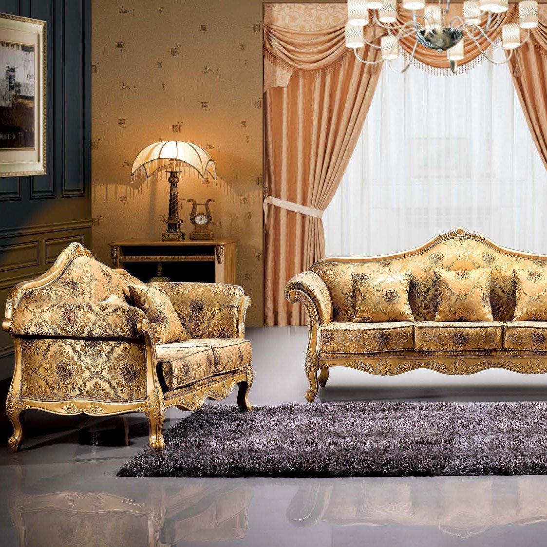 jinxincheng 金鑫铖 欧式沙发 组合 简约欧式真皮沙发 法式沙发 美式图片