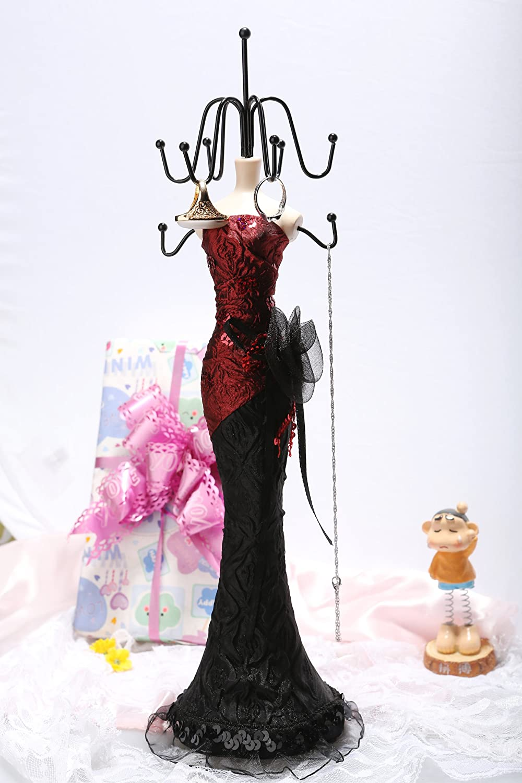 尼佳珠宝复古红色礼服美人首饰架项链架展示
