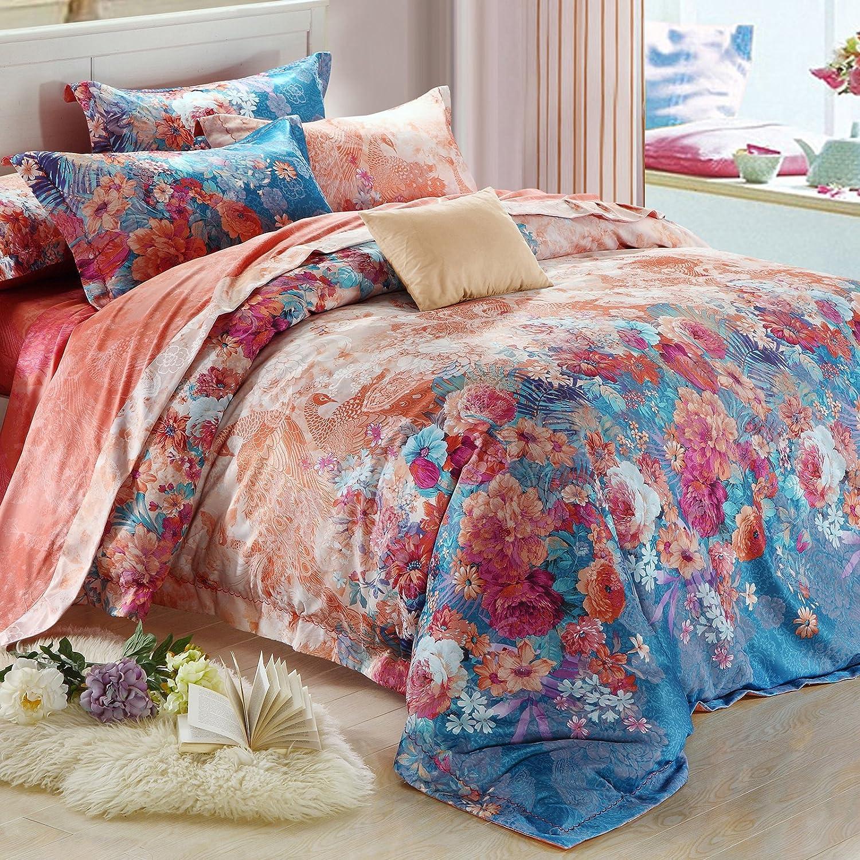 欧式美提花纯棉四件套高档全棉转移印花床上