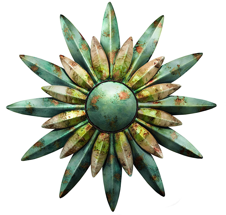 Regal Art & Gift 10200 Sunburst Sun Wall Decor, Aqua-家居装修-亚马逊中国-海外购 美亚直邮