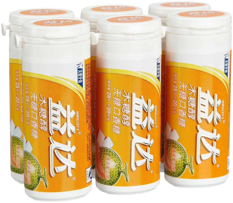 益达木糖醇口香糖香浓蜜瓜味20粒瓶装28g*6