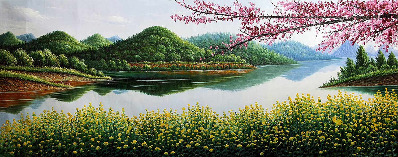 宣澄艺购 宣澄独家签约画家 山野逢春 写实油画 风景油画
