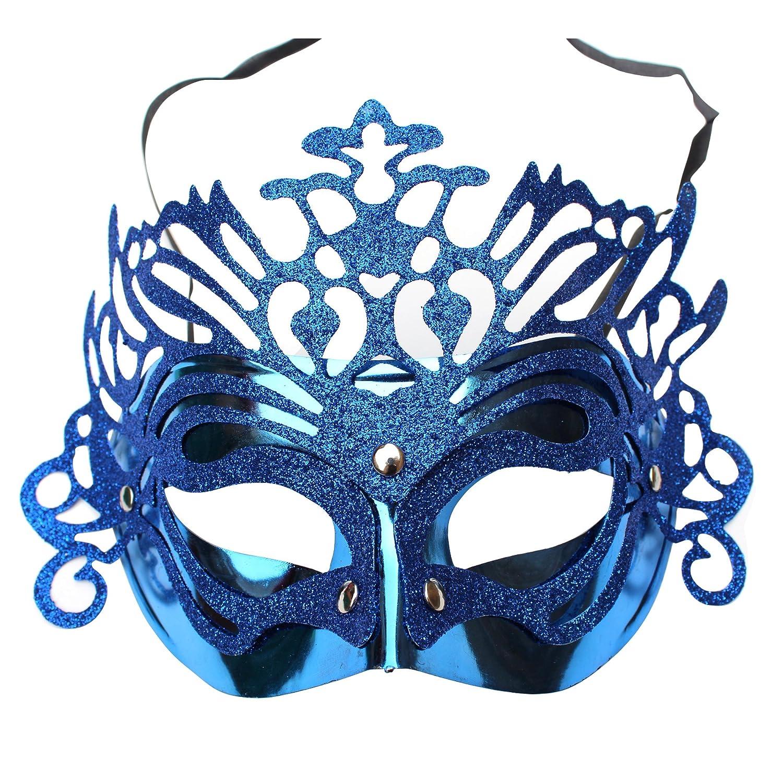 派对面具舞会面具公主面具彩绘面具花片皇冠面具金粉