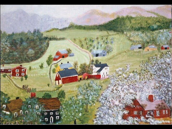摩西奶奶手绘明信片